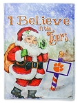 I Believe in the Tigers Santa Clemson Garden Flag
