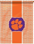 Clemson Greek Key Garden Flag