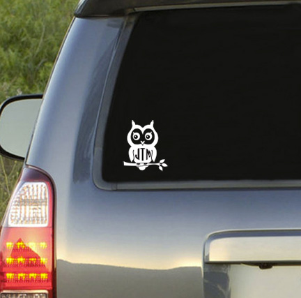 Owl Monogram Decal