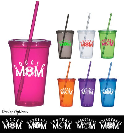 Sports Mom Straw Cup