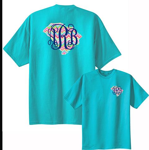 Chevron State Monogram T Shirt