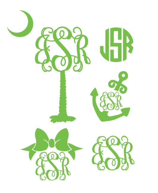 Preppy Monogram Decal Sampler