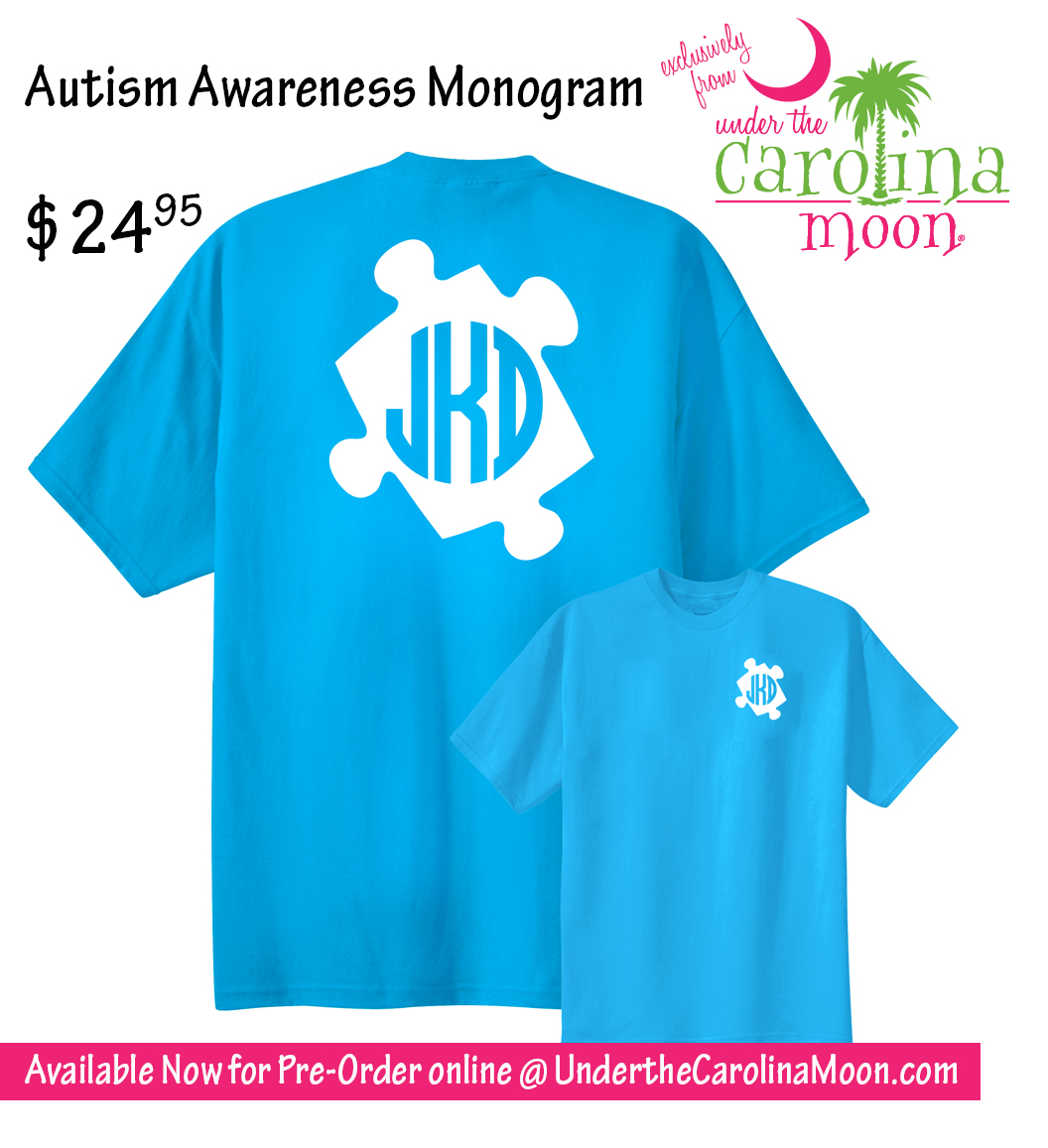 Autism Awareness Monogram Shirt