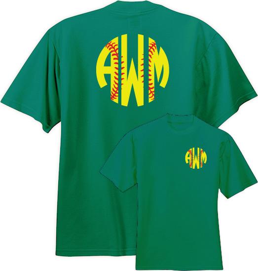 Custom monogrammed baseball t shirt for Custom baseball tee shirts