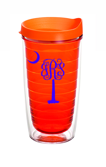 Preppy Palmetto Monogram Tervis