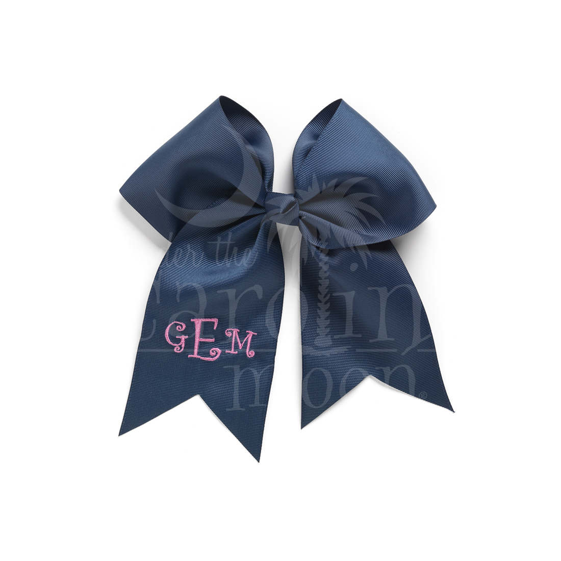Monogrammed Navy Hair Bow