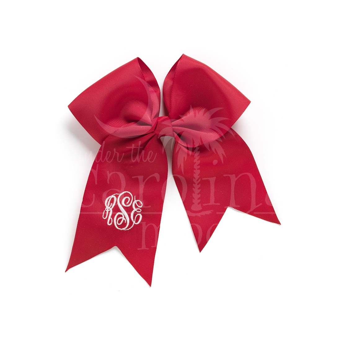 Monogrammed Red Hair Bow