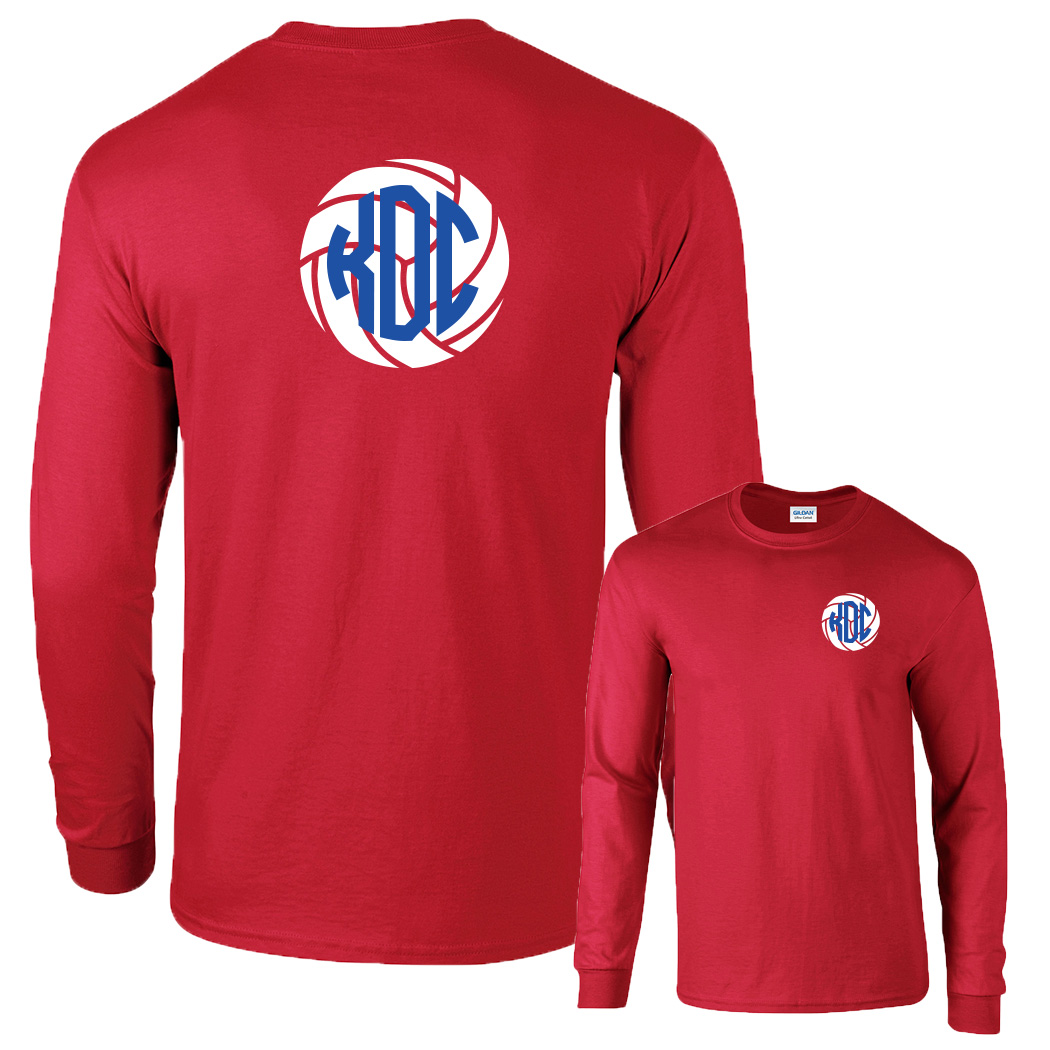 Preppy Volleyball  Monogram Shirt Long Sleeve