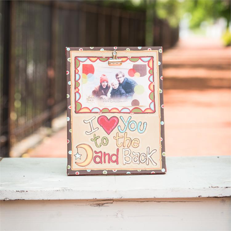 I Love You To The Moon and Back Clip Frame