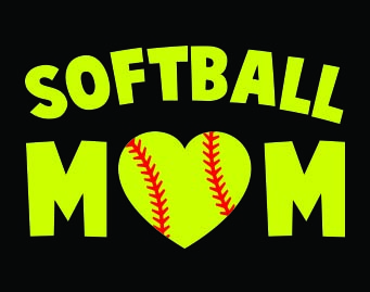 Softball Mom Car Decal