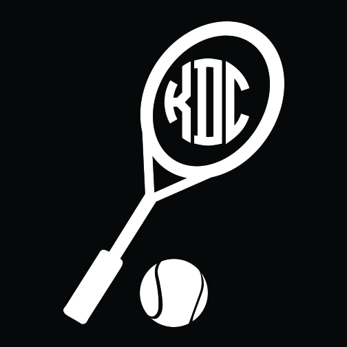 Tennis Monogram Car Decal