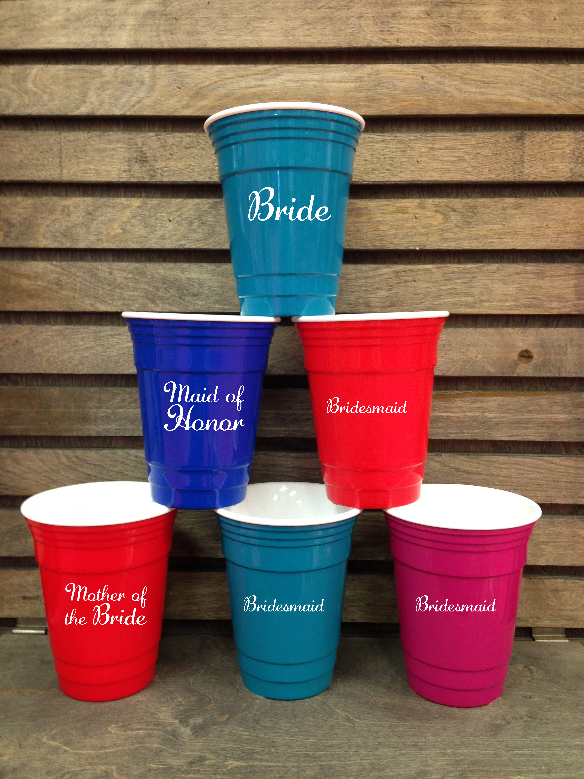 Wedding Party Doublewall Insulated Solo Cup 16 oz