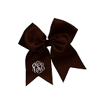Monogrammed Brown Hair Bow