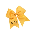 Monogrammed Gold Hair Bow