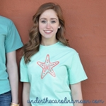 Center Starfish Vines Monogram