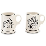 Mudpie Mr. and Mrs Mug Set