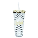 Polka Dot Bride Straw Tumbler