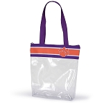 Clemson Tigers Clear Ribbon Tote Bag