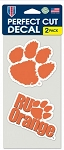 Perfect Cut Clemson Tigers 2 Pack Decal