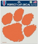Perfect Cut Clemson Tigers Paw Decal 8X8