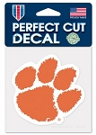 Perfect Cut Clemson Tigers Paw Decal 4X4