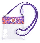 Clemson Tigers Clear Crossbody Bag