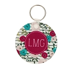 Floral License Key Chain