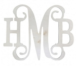 Classic Wall 3 Initial His and Hers Wood Monogram