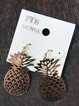It's Sense Gold Pineapple Dangle Earrings
