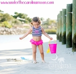 Navy Prep Stripe Childrens Swimsuit Set
