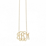 Medium Gold Plated Interlocking Filigree Necklace