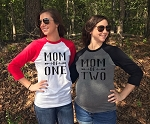 Mom of One, Two, Three... Arrow Raglan