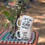 Love You Moon and Back Ceramic Mug Set