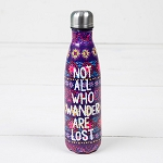 Natural Life Not All Who Wander are Lost Water Bottle