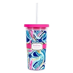 Lilly Pulitzer Ocean Jewels Straw Tumbler