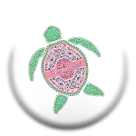 Livin' The Shore Life™ Floral Turtle Pop Socket