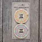 Natural Life Sun/Moon Car Coaster Set