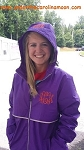 Purple Preppy Monogrammed Rain Jacket