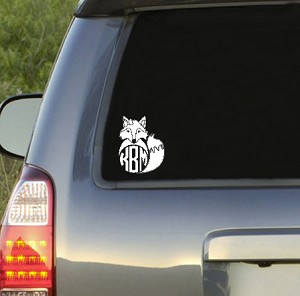 Preppy Fox Monogram Decal