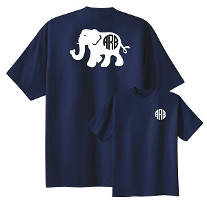 Preppy Elephant Monogram T-shirt