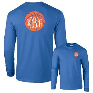Preppy Basketball Monogram Shirt Long Sleeve
