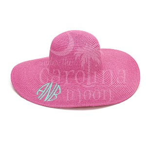 Preppy Sun Hat Hot Pink