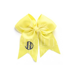 Monogrammed Yellow Hair Bow
