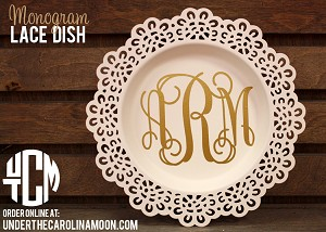 Monogrammed Lace Dish