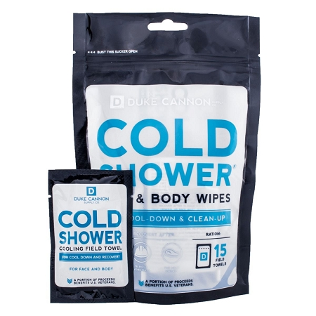Duke Cannon Cold Shower Face and Body Wipes
