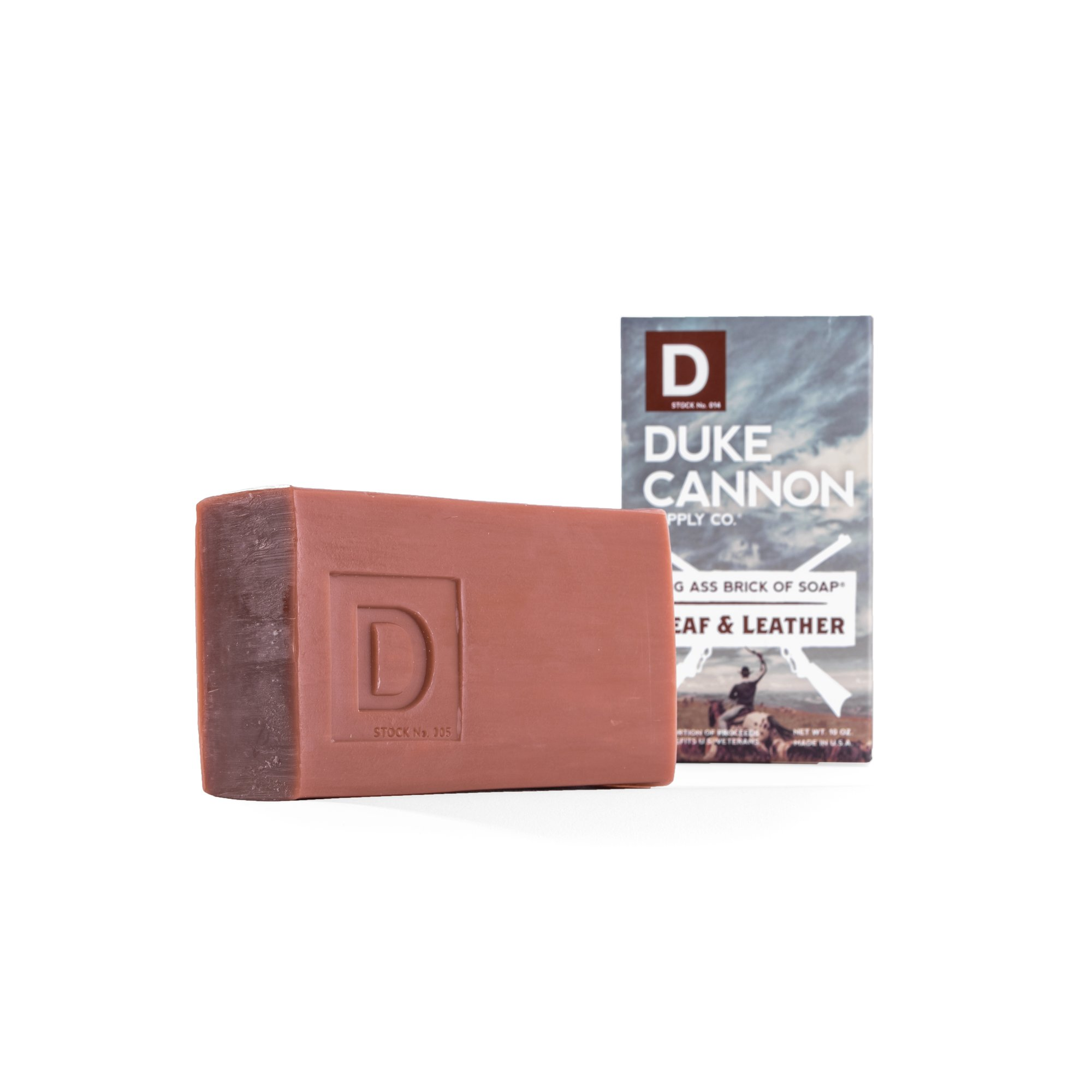 Duke Cannon Big American Brick of Soap Smells Like Leaf and Leather