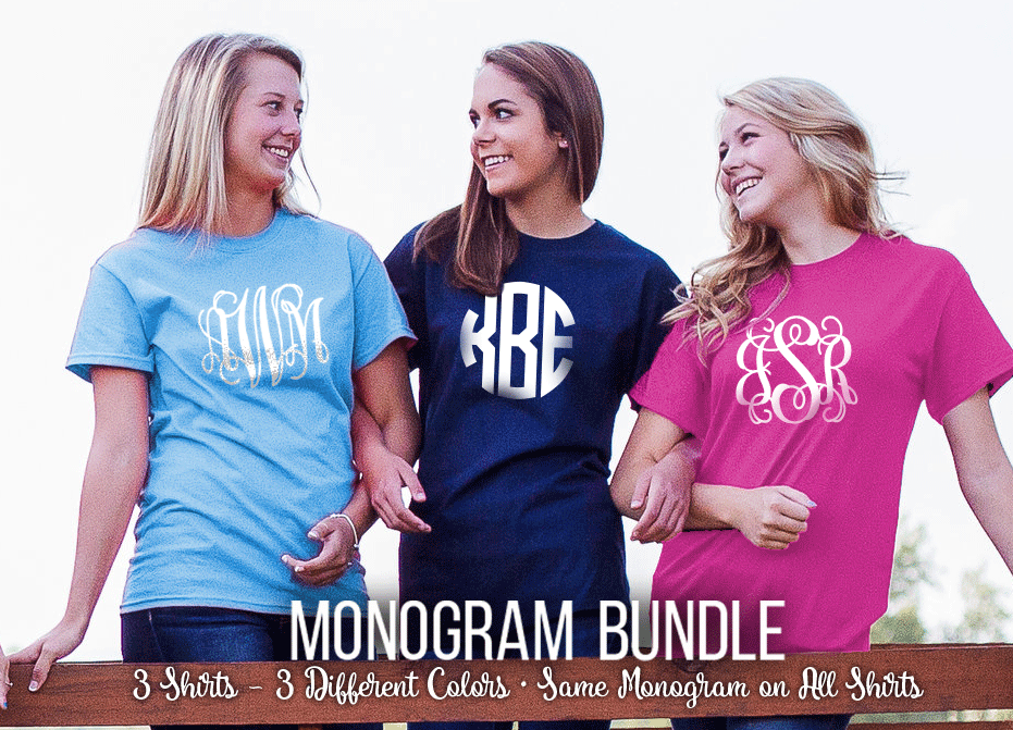 Center Front Monogram Mania Shirt Bundle
