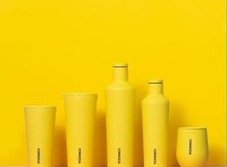 Corkcicle Neon Yellow Collection (Prices Vary)