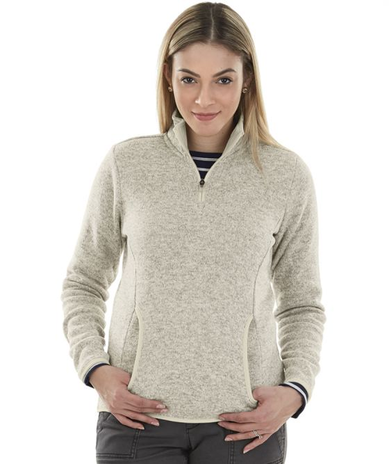 Women's Monogrammed Heathered Fleece Pullover