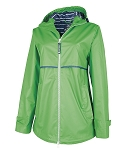 Kelly Green Preppy Monogrammed Rain Jacket